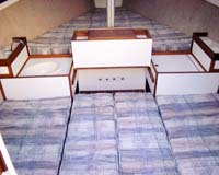 Quarter berth filler cushions