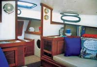 Forward starboard side view of salon