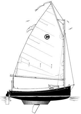 Line drawing of the Horizon Day Cat