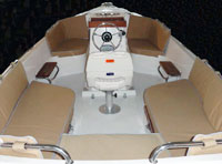Available options include bimini tops, cockpit cushions with backrests, trailer, Elco electric propulsion, and a portable generator for extending the range of the electric model.