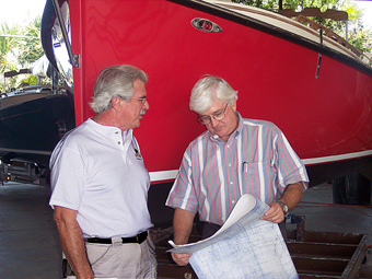 Richard and Gerry Hutchins, owners of Com-Pac Yachts